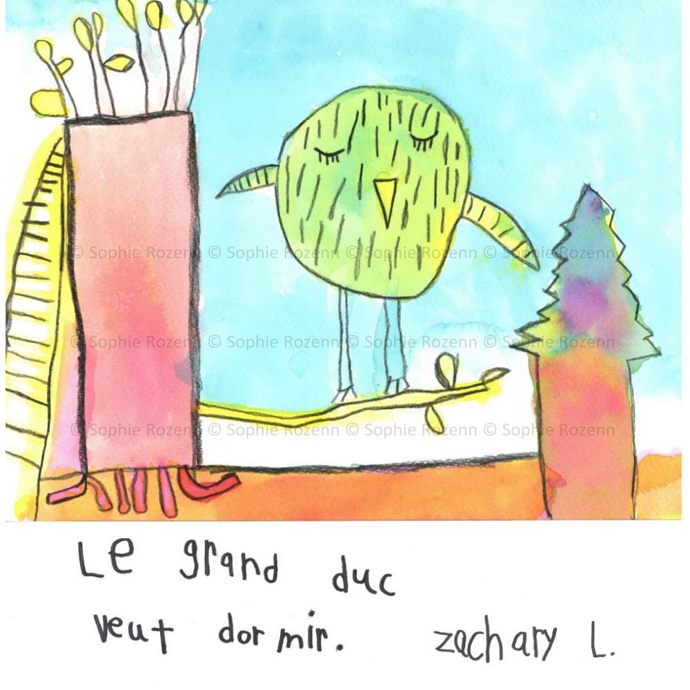 Mots comme trois pommes – Zachary