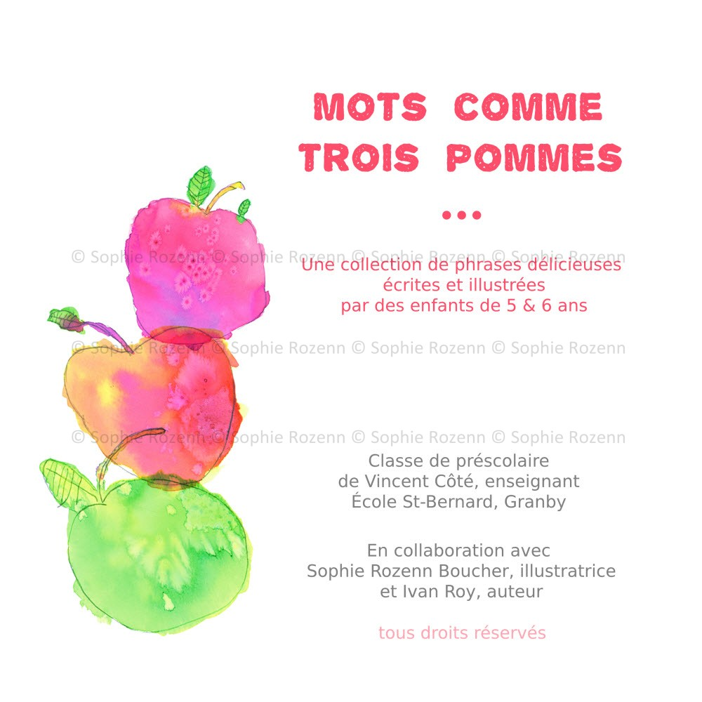 Mots comme trois pommes – Couverture – Sophie Rozenn